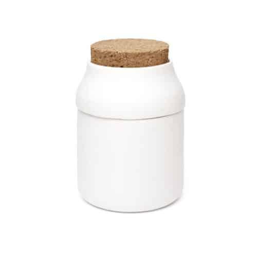 Herb Grinder & Jar - White