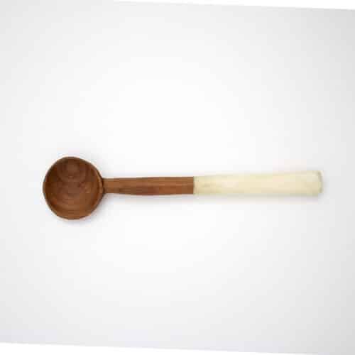 Wood Bone Sugar Spoon